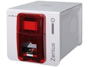 Evolis ZN1H0000RS Zenius Expert Card Printer - Single-sided - White/Red