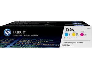 HP 126A LaserJet Toner Cartridge - Tri-Color Pack - Cyan/Magenta/Yellow