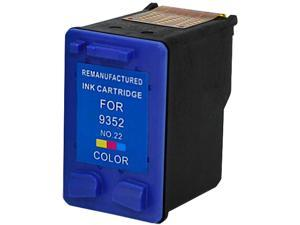 Green Project H-22(C9352AN) 3 Colors Ink Cartridge Replaces HP 22(C9352AN)