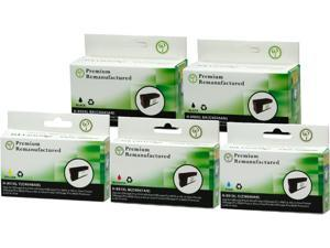Green Project H-950XL/951XL(5PK) Black and Colors Compatible HP 950XL, 951XL 5 Pack
