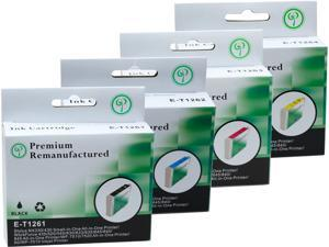 Green Project E-T1261(4)PK Black and Colors Compatible Epson E-T1261 Ink Cartridge 4 Pack