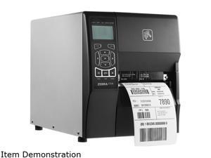 "Zebra ZT230 4"" Industrial Thermal Transfer Label Printer, Icon LCD, 300 dpi, Serial, USB, Parallel, ZPL, EPL, XML Support, US Cord - ZT23043-T01100FZ"