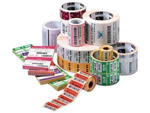 "Zebra Consumables Polypro 3000t Polypropylene Label Thermal Transfer 1.5"" X 0.5"" 1"" Core 5"" Od 3780 Labels"