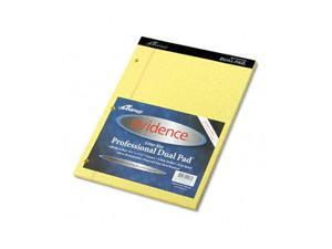Ampad 20-243 Evidence Dual Ruled Pad, Legal/Wide Rule, 8-1/2 x 11-3/4, Canary, 100 Sheets