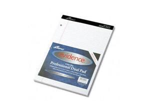Ampad 20-244 Evidence Dual Ruled Pad, Legal/Wide Rule, 8-1/2 x 11-3/4, White, 100 Sheets