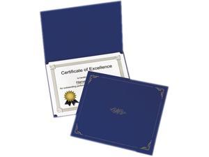 Oxford 29900-235BGD Certificate Holder, 12-1/2 x 9-3/4, Dark Blue, 5/Pack
