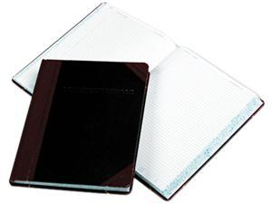 Boorum & Pease L21-300-R Laboratory Notebook, Record Rule, 10-3/8 x 8-1/8, White, 300 Sheets