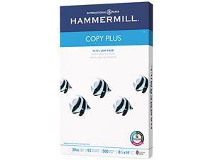 Hammermill 10501-5 Copy Plus Copy Paper, 92 Brightness, 20lb, 8-1/2 x 14, White, 500 Sheets/Ream