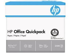 HP 112103 Office Paper, 92 Brightness, White, 2500 Sheets / Carton