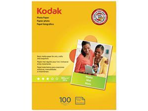 Kodak 8318164 Photo Paper, Matte, 7 mil, 8-1/2 x 11, 100 Sheets/Pack