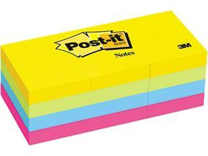 Post-it Notes 653-AU Ultra Color Self-Stick Notes, 1-1/2 x 2, Four Colors, 12 100-Sheet Pads/Pack