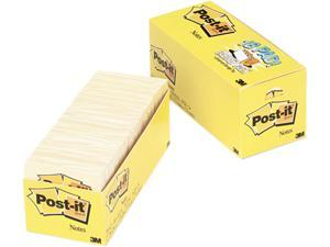 Post-it Notes 654-18CP Cabinet Pack, 3 x 3, Canary Yellow, 18 90-Sheet Pads/Pack