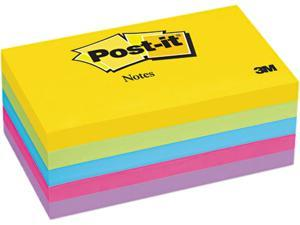Post-it Notes 655-5UC Ultra Color Notes, 3 x 5, Five Colors, 5 100-Sheet Pads/Pack