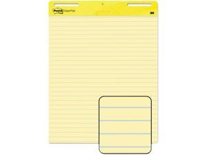 Post-it Easel Pads 561 Self-Stick Easel Pad, Ruled, 25 x 30, Yellow, 2 30-Sheet Pads/Carton