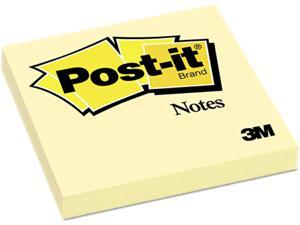 Post-it Notes 654-YW Original Notes, 3 x 3, Canary Yellow, 12 100-Sheet Pads/Pack