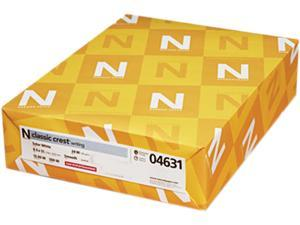 Neenah Paper 04631 Classic Crest Stationery Writing Paper, 24-lb., 8-1/2 x 11, Solar White, 500/Rm