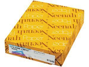 Neenah Paper 01345 Classic Crest Stationery Writing Paper, 24-lb, 8-1/2 x 11, Natural White, 500/Rm