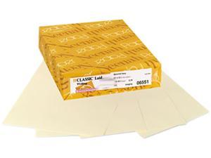 Neenah Paper 06551 Classic Laid Stationery Writing Paper, 24-lb, 8-1/2 x 11, Baronial Ivory, 500/Rm