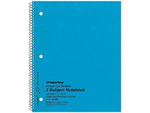 National Brand 33386 3-Subject Wirebound Notebook, College Rule, Letter, WE, 150 Sheets/Pad