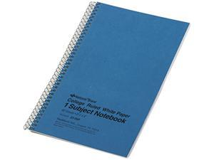 National Brand 33560 Subject Wirebound Notebook, College Rule, 6 x 9-1/2, WE, 80 Sheets/Pad