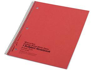 National Brand 33709 Subject Wirebound Notebook, College/Margin Rule, Ltr, WE, 80 Sheet/Pad
