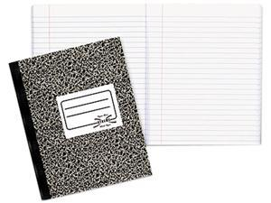 National Brand 43460 Composition Book, Wide/Margin Rule, 7-7/8 x 10, White, 80 Sheets/Pad