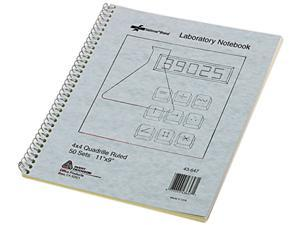 National Brand 43647 Wirebound Duplicate Lab Notebook, Quadrille Rule, 9 x 11, 100 Sheets