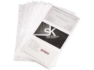 Samsill 81079 Business Card Binder Refill Pages, Six 2 x 3 1/2 Cards per Page, Clear, 10 Pages