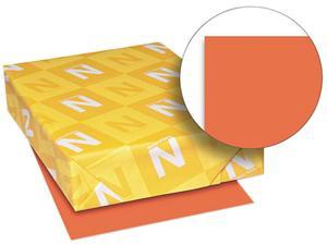 Wausau Paper 22761 Astrobrights Colored Card Stock, 65 lbs., 8-1/2 x 11, Orbit Orange, 250 Sheets