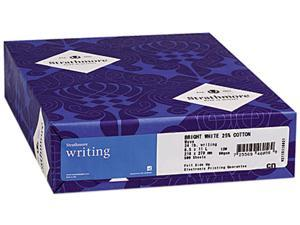 Strathmore 300-068 25% Cotton Business Stationery, 24 lbs., 8-1/2 x 11, Ultimate White, 500/Ream