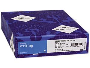 Strathmore 300-069 25% Cotton Business Stationery, 24 lbs., 8-1/2 x 11, Ultimate White, 500/Ream