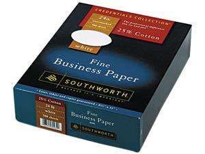 Southworth 404C 25% Cotton Business Paper, 24 lbs., 8-1/2 x 11, White, 500/Box