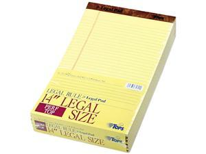 Tops 7572 Perforated Pads, Legal Rule, Legal, Canary, 50 Sheet Pads, Dozen