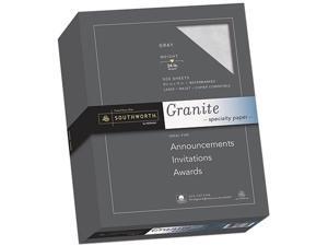 Southworth 914C Granite Specialty Paper, 24 lbs., 8-1/2 x 11, Gray, 500/Box