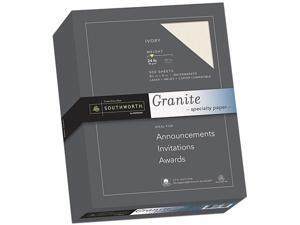 Southworth 934C Granite Specialty Paper, 24 lbs., 8-1/2 x 11, Ivory, 500/Box