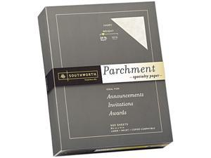 Southworth 984C Parchment Specialty Paper, 24 lbs., 8-1/2 x 11, Ivory, 500/Box