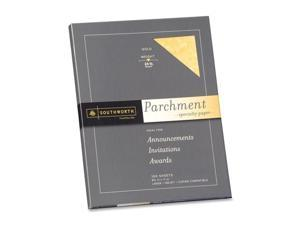 Southworth P994CK Parchment Specialty Paper, 24 lbs., 8 1/2 x 11, Gold, 100/Pack