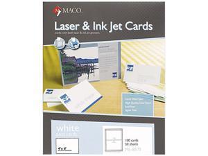 Maco Unruled Index Cards, 4 x 6, White, 100/Box