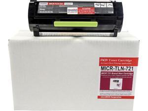 microMICR MICRTLN721 Black MICR Toner Cartridge - Alternative for Lexmark
