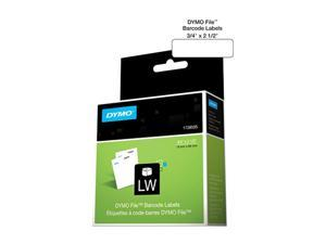 "DYMO Rhino File Barcode Label 0.75"" Width x 2.50"" Length - 450 / Roll - 450/Roll - Direct Thermal - White"