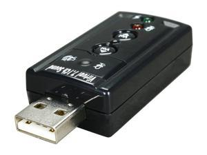 StarTech.com ICUSBAUDIO7 7.1 Channels USB Interface Stereo Audio Adapter External Sound Card