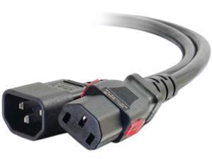 C2g 6Ft Locking C14 To C13 10A 250V Power Cord Black