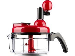 Food Chopper Hand Crank Food Processor Chopper Vegetable Quick Chopper