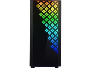 BitFenix DAWN TG Case Black, 3 Sides Tempered Glass, E-ATX/ATX/Micro ATX/Mini ITX Form Factor, Asus AURA SYNC 3-pin Addressable RGB LED, BFC-DAW-500-KKGSK-RP