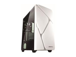 Enermax MarbleShell MS30 ARGB Tempered Glass Side Panel ATX Mid Tower PC Gaming Case with Triple ARGB Fans (4 Pre-Installed Fans) - White