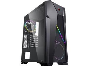 Raidmax i328 Mesh Airflow ATX Gaming Case Tempered Glass side with 3 ARGB Fans