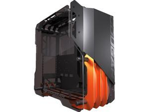 Cougar Blazer Aluminum Open-Frame Gaming Mid Tower Case with Full Tempered Glass Panels