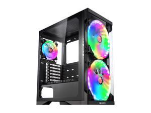 RAIJINTEK SILENOS PRO, ATX Tower with Clean Transparent Front and Side Tempered Glass (4.0mm) Design, Comes with Pre-installed 2pcs ARGB 200mm Fans at Front and 1pcs 120mm ARGB fan at Rear