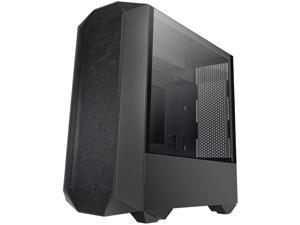 Segotep Typhon ATX Black Mid Tower PC Gaming Tempered Glass Computer Case USB 3.0 Port w/ Graphics Card Vertical Mounting