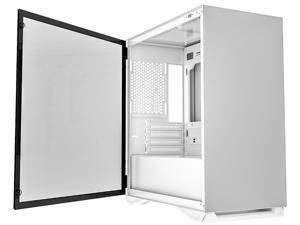 darkFlash DLM 22 White Micro ATX Mini Tower MicroATX Computer Case with Door Opening Tempered Glass Side Panel